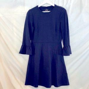 Kate Spade Ponte Ruffle Cuff Fit & Flare Dress S
